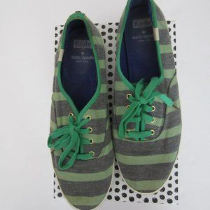 Kate Spade Keds. Green/Grey Women's Size 10